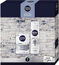 Profumi e cosmetici Set - Nivea Xmas Sensitive Recovery 2020 (foam/200ml + balm/100ml)