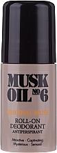 Profumi e cosmetici Deodorante roll-on - Gosh Musk Oil No.6 Roll-On Deodorant