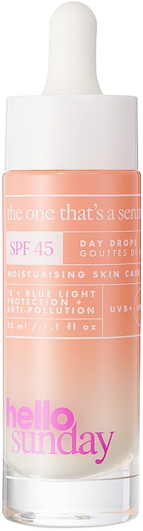 Siero solare viso - Hello Sunday The One That's A Serum Face Drops SPF 45 — foto N1