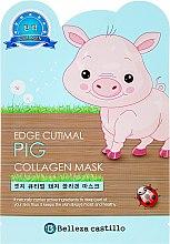 Profumi e cosmetici Maschera in tessuto idratante - Belleza Castillo Edge Cutimal Pig Anti-Wrinkle Mask