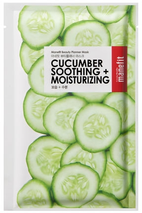 Maschera in tessuto al cetriolo - Manefit Beauty Planner Cucumber Soothing + Moisturizing Mask — foto N1