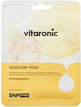Profumi e cosmetici Maschera schiarente viso, in tessuto - SNP Prep Vitaronic Ampoule Mask