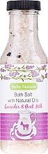 """Profumi e cosmetici Sale da bagno """"Lavanda e latte di capra"""" - Belle Nature Bath Salt"""