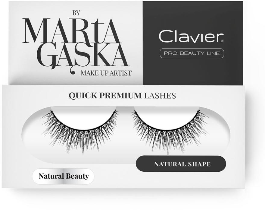 Ciglia finte - Clavier Quick Premium Lashes Natural Beauty 827