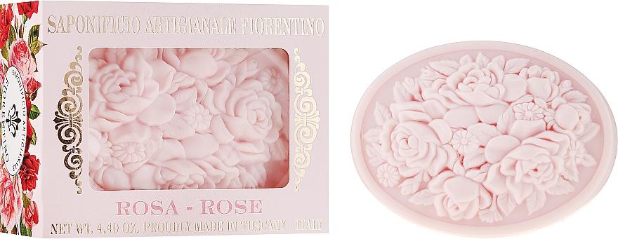 """Sapone naturale """"Rosa"""" - Saponificio Artigianale Fiorentino Botticelli Rose Soap"""