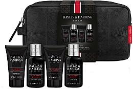 Profumi e cosmetici Set - Baylis & Harding Signature Men's Black Pepper & Ginseng Wash Bag(hair/body/wash/100ml+a/sh/balm/50ml+face/wash/100ml+sh/gel/50ml+bag)