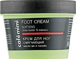 """Profumi e cosmetici Crema per i piedi """"Addolcente"""", burro di karité e papaia - Cafe Mimi Foot Cream Softens"""