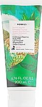 """Profumi e cosmetici Latte corpo """"Ananas tropicale e cocco"""" - Korres Tropical Pineapple & Coconut Body Milk"""