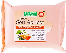 Salviette detergenti viso - Beauty Formulas Gentle Soft Apricot Cleansing Facial Wipes — foto N1