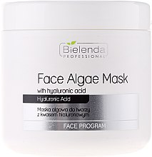 Profumi e cosmetici Maschera viso con acido ialuronico - Bielenda Professional Face Algae Mask with Hyaluronic Acid