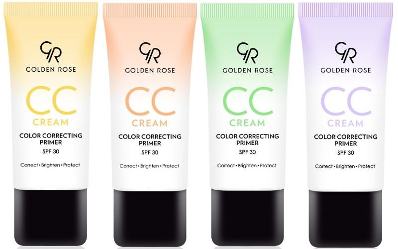 Crema viso correttiva CC - Golden Rose CC Cream Color Correcting Primer — foto N1