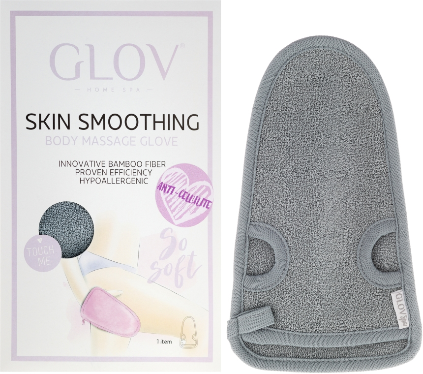 Guanto per massaggio - Glov Skin Smoothing Body Massage Grey
