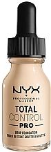 Profumi e cosmetici Fondotinta - NYX Professional Total Control Pro Drop Foundation