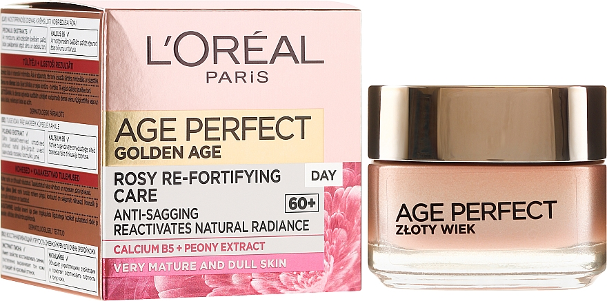Crema viso rassodante, da giorno - L'Oreal Paris Age Perfect Golden Age Rosy Re-Fortifying Day Cream