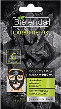 Profumi e cosmetici Maschera carbone detergente per pelle mista - Bielenda Carbo Detox Cleansing Mask Mixed and Oily Skin