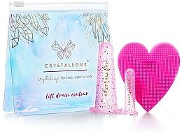 Profumi e cosmetici Coppe in silicone per il massaggio del viso - Crystallove Crystalcup For Face, Eyes & Neck Rose Set