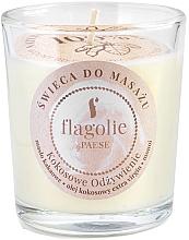 """Profumi e cosmetici Candela da massaggio """"Cocco nutriente"""" in bicchiere di vetro - Flagolie Coconut Nutrition Massage Candle"""