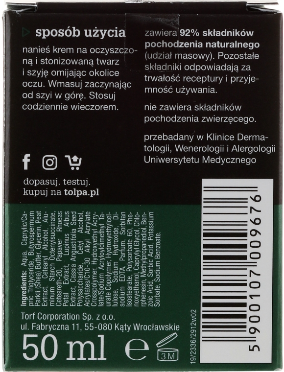 Crema notte antirughe - Tolpa Green Firming 40+ Rejuvenating Anti-Wrinkle Night Cream — foto N4