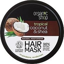 Profumi e cosmetici Maschera capelli idratante - Organic Shop Coconut & Shea Moisturising Hair Mask
