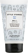 "Profumi e cosmetici Gel per lo styling ""Effetto bagnato"" - Alfaparf Milano Style Stories Wet Gel Medium Hold"