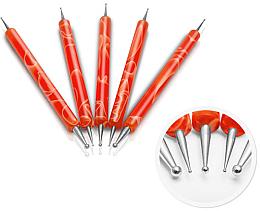 Profumi e cosmetici Set di strumenti per manicure, arancione - Silcare