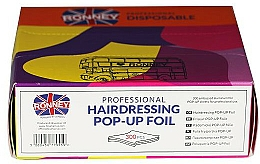 Profumi e cosmetici Lamina ondulata per parrucchieri, 300 pz - Ronney Professional Hairdressing Pop-Up Foil