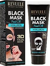 "Profumi e cosmetici Maschera nera ""Hyaluron"" - Revuele Black Mask Peel Off Hyaluron"