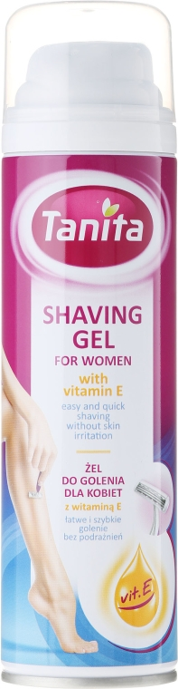 Gel per la rasatura con vitamina E - Tanita Body Care Shave Gel For Woman