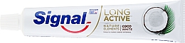 Dentifricio - Signal Long Active Nature Elements Coco White — foto N2