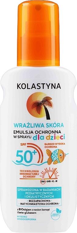 Emulsione spray protettiva per bambini per pelli sensibili - Kolastyna Kids Sensitive Skin SPF50