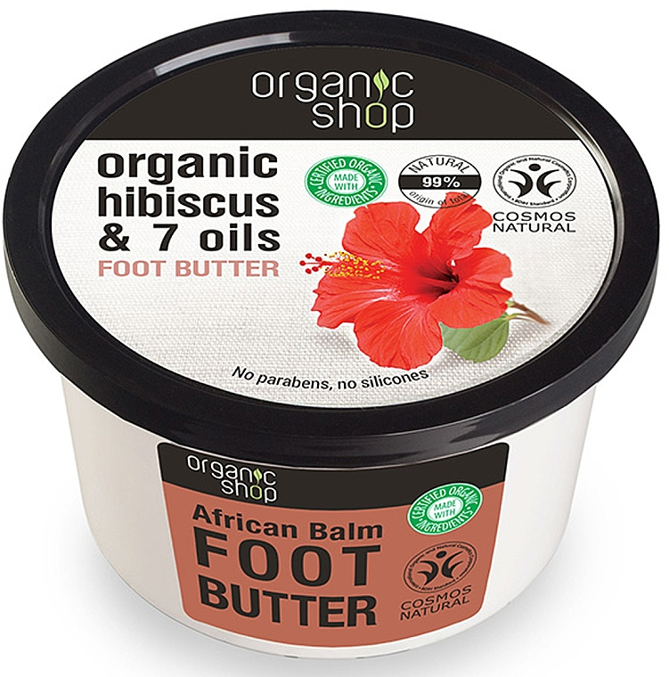 "Burro piedi ""Balsamo Africano"" - Organic Shop Organic Hibiscus & 7 Oils Foot Butter"