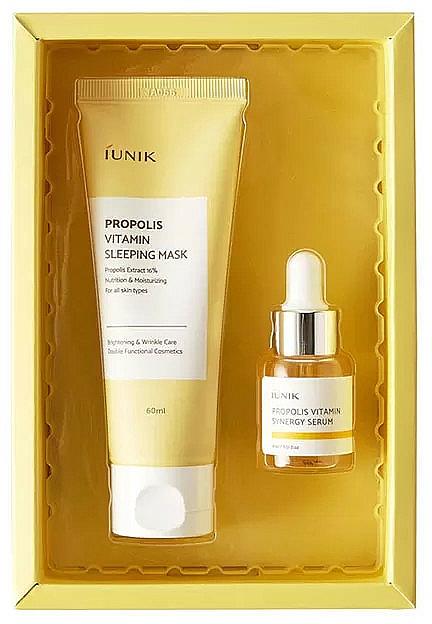 Set - iUNIK Propolis Edition Skin Care Set (mask/60ml + ser/15ml) — foto N1