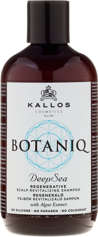Shampoo rigenerante per cuoio capelluto - Kallos Cosmetics Botaniq Deep Sea Shampoo