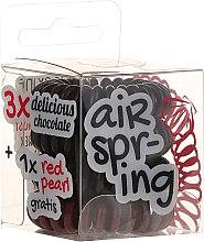 Profumi e cosmetici Elastici capelli, cioccolato + rosso, 4 pezzi - Hair Springs