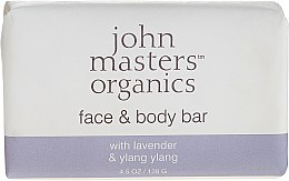Profumi e cosmetici Sapone viso e corpo - John Masters Organics Lavender Rose Geranium & Ylang Ylang Face & Body Bar