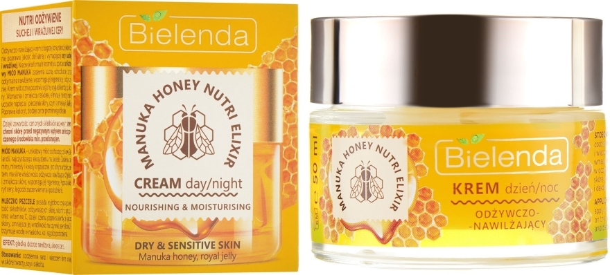 Crema viso idratante nutriente - Bielenda Manuka Honey Nutri Elixir Day/Night Cream