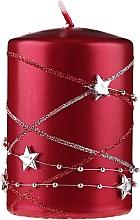 Profumi e cosmetici Candela decorativa rossa, 11x7cm - Artman Christmas Garland