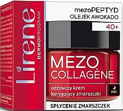 Profumi e cosmetici Crema viso antirughe, da notte - Lirene Mezo Collagene
