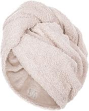 Profumi e cosmetici Asciugamano turbante, beige - MakeUp
