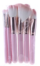 Profumi e cosmetici Set pennelli per il trucco con beauty case, rosa - Contour Cosmetics (makeup/brushes/8pcs + bag)