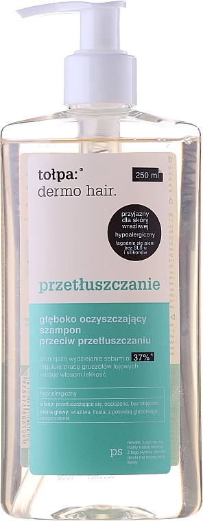 Shampoo per capelli grassi - Tolpa Dermo Hair Deep Cleansing Shampoo — foto N7
