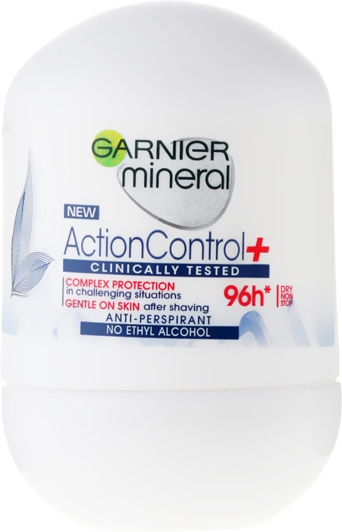Deodorante roll-on - Garnier Mineral Action Control Clinically 96H Anti-Perspirant Roll-On