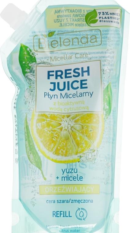 "Liquido micellare ""Yuzu"" - Bielenda Fresh Juice Detoxifying Face Micellar Water Yuzu"