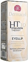 Profumi e cosmetici Crema labbra e contorno occhi all'acido ialuronico - Dermacol Hyaluron Therapy 3D Eye and Lip Wrinkle Filler Cream