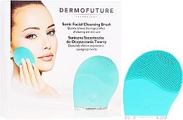 Profumi e cosmetici Spazzola esfoliante per la pulizia del viso, blu - Dermofuture Technology
