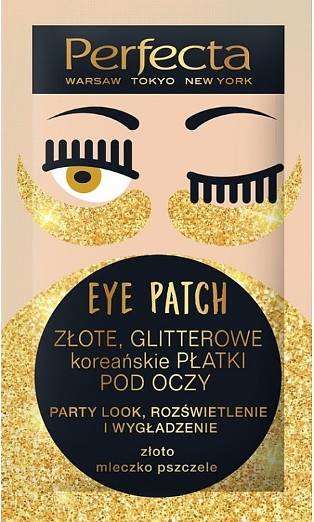 "Patch occhi ""Golden glitter"" - Perfecta Gold Glitter Eye Patch"