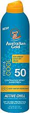 Profumi e cosmetici Spray solare - Australian Gold Fresh & Cool Continuous Spray Sunscreen Spf50