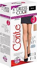 """Profumi e cosmetici Collant """"Dress Code"""" 8 Den, 3 pz, nero - Conte"""
