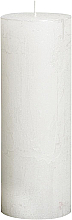 Profumi e cosmetici Candela cilindrica Metallic White, 190/68 mm - Bolsius Candle