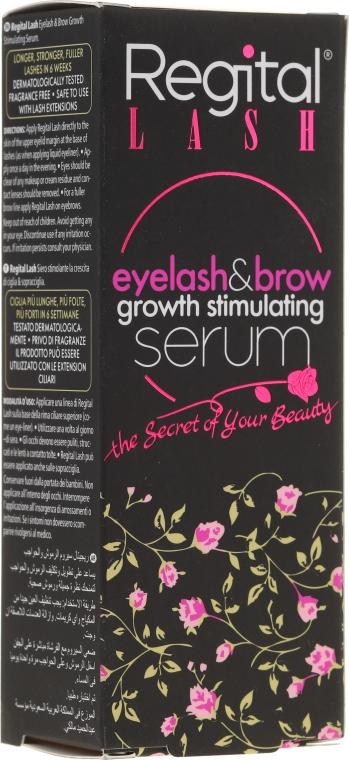 Siero per la crescita di ciglia e sopracciglia - Regital Lash Eyelash & Brow Growth Stimulating Serum